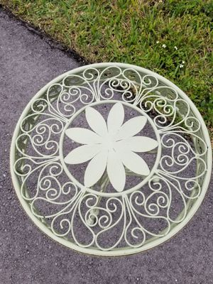 $45.00 - Accent Table, Sage/Lots of Design details/Iron & Metal/Distress accents - Lowest Price! for Sale in Miami, FL