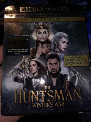 The huntsman winters war 4K movie for Sale in Sanger, CA