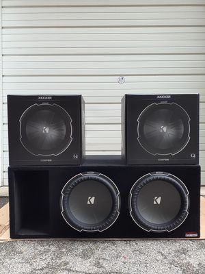 NEW! Dual 15 Kicker Comp Q subwoofer system for Sale in York, PA