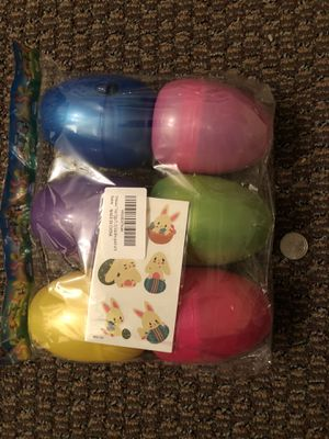 Dinosaur Toys Eggs Easter Basket Stuffers for Boys Girls Toddlers Kids - Larger Plastic Filled Easter Eggs Decorations Party Supplies pack of 6 for Sale in Forest Hills, TN