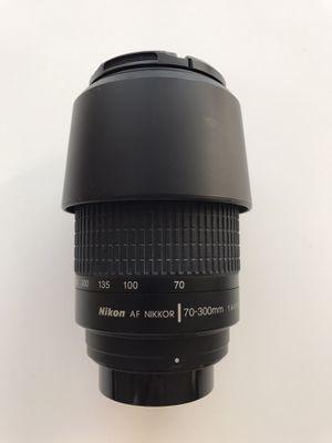 Nikon Nikkor AF 70-300mm f/4-5.6 Full Frame Lens with Nikon hood for Sale in Garden Grove, CA
