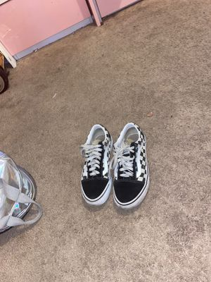Black and white checkered vans for Sale in Chicago, IL