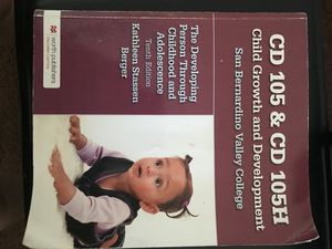 CD 105 & CD 105H CHILD GROWTH AND DEVELOPMENT for Sale in Colton, CA