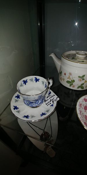 Winsor blue and white teacup and saucer. for Sale in Puyallup, WA