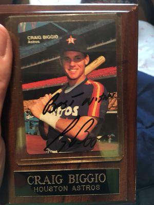 Craig Biggio autograph for Sale in Humble, TX