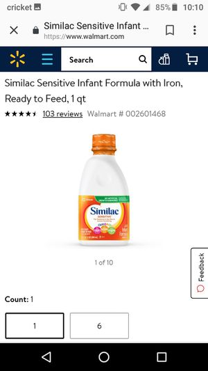 Similac sentive ready to feed for Sale in Sudley Springs, VA