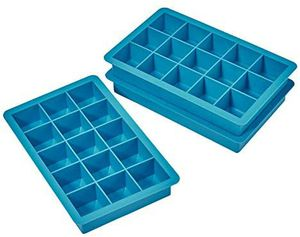 Jet Lag Ice Cube Trays, 15 Cube Easy Release Silicone Ice Tray, Non-Smell, BPA Free and Dishwasher Safe (3-Pack) (Blue & Green) for Sale in Hawthorne, CA