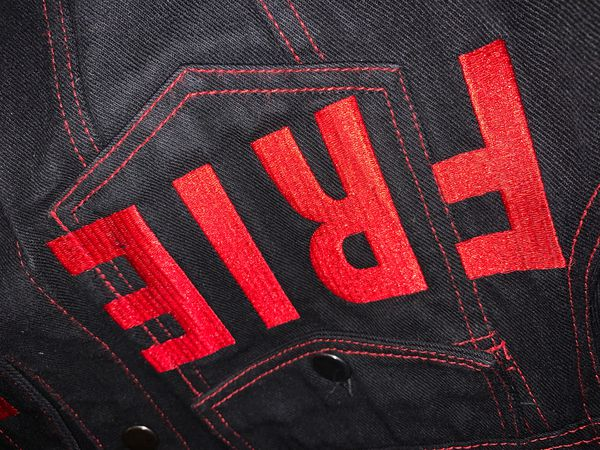 Vlone Jean jacket red 100% authentic