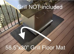 Outdoor Gas Grill BBQ Floor Mat for Sale in Morgan Hill, CA