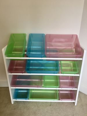 Pending pickup - Kids toy storage and organizer with 12 bins for Sale in Redmond, WA