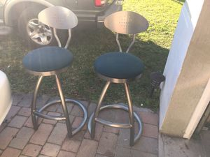 Stainless steel bar stools for Sale in Princeton, FL