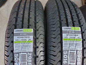 2 TRAILER TIRES 10PLY LOAD RANGE E ST225 75 15 for Sale in Colton, CA