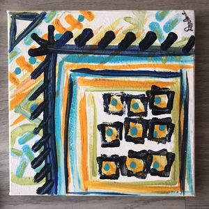Original painting acrylic oil on canvas 10x10 inches new for Sale in Avondale, AZ