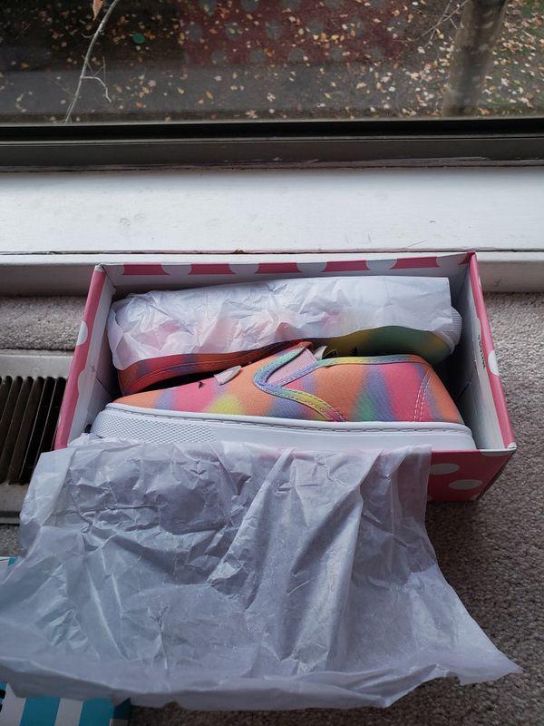 New rainbow girl shoes