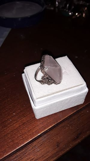 sterling quartz Art Deco pinkie ring for Sale in Madison, VA
