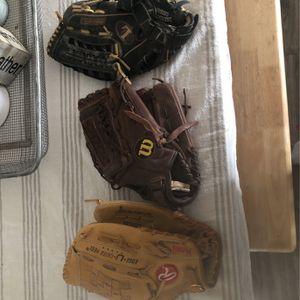 Baseball Softball Gloves. for Sale in Gilbert, AZ