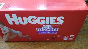 Size 5 huggies little movers for Sale in Washington, DC