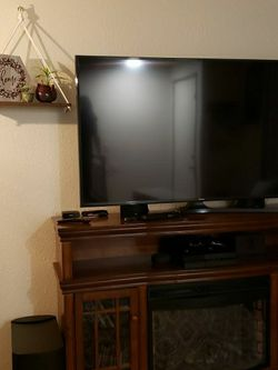 Beautiful Tv Console/ Stand/ Media Center With Chimney for Sale in Lake Stevens,  WA