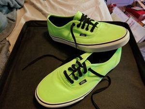 Van's neon green canvas shoes, Men's 10 1/2 for Sale in Denver, CO