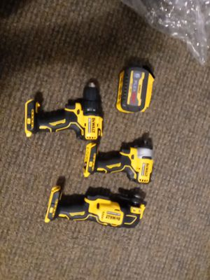 DeWalt Grinder impact drill and regular drill with 60v flexvolt battery for Sale in Buffalo, NY