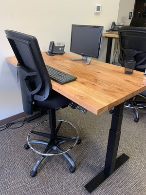 Douglas Fir Sit-Stand office desk for Sale in Portland, OR