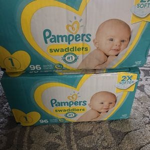 Diapers Size 1 96 Count for Sale in Tacoma, WA