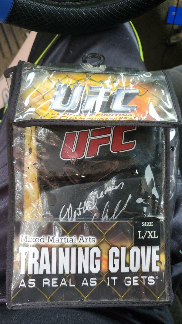Chuck Liddell autographed glove