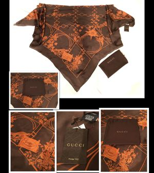Gucci Silk Scarf & Dust bag Authentic for Sale in Portland, OR
