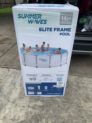 Summer waves elite frame pool 14 ft 42 inches for Sale in Houston, TX
