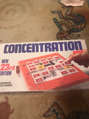 Kids vintage 1979 concentration game puzzle changer for Sale in Coral Springs, FL