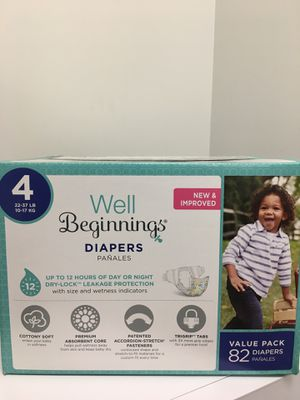 Well beginnings diapers size 4 82 count for sale $10 for Sale in Katy, TX