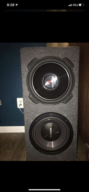"12"" subs with enclosure and amplifier for Sale in Barrington, NJ"