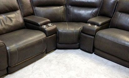 Summerbridge 5pc Italian Leather Sectional Sofa for Sale in Decatur,  GA