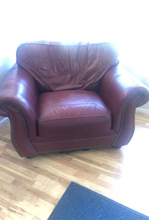 Real leather wide chair for Sale in Garden Grove, CA