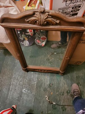 Antique wood mirror for Sale in South Amherst, OH