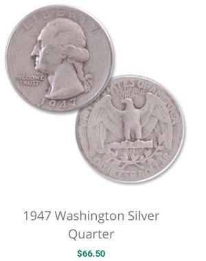 1947 silver quarter for Sale in Vestal, NY