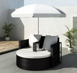 SHIPPING ONLY Patio Furniture Lounge Set Day Bed Couch Chair and Umbrella for Sale in Las Vegas, NV