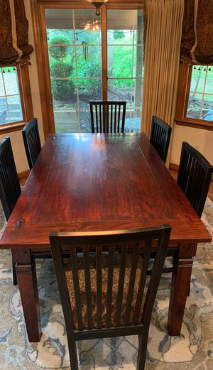 Arhaus dining table and 6 side chairs for Sale in Cranberry Township, PA