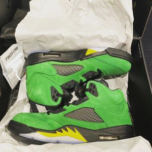 Nike Jordan 5s Oregon's Apple Green size 10.5 and size 11 for Sale in Los Angeles, CA