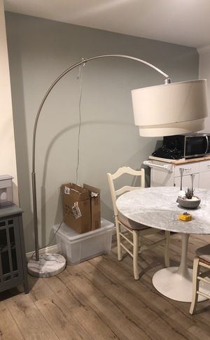 Crate and Barrel Meryl Arc Floor Lamp $250 for Sale in Beverly Hills, CA