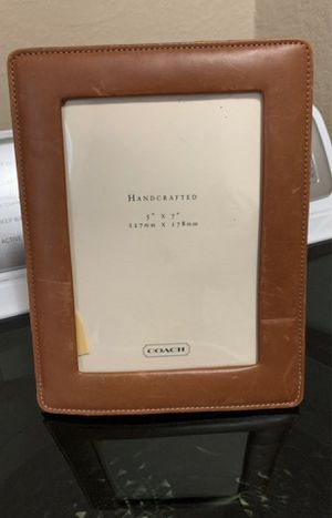 Coach leather picture frame $5 for Sale in Fort Worth, TX
