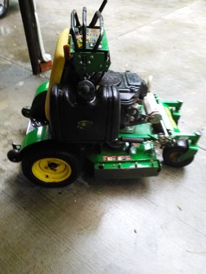 2014 36 m John Deere stand on 18.5 Kawasaki with mulching kit very dependable machine dos not smoke runs great for Sale for sale  Austell, GA