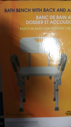 Brand new guardian adjustable bath bench with back and arms still in box for Sale in Atlanta, GA