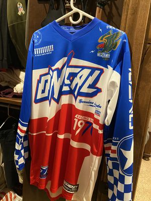 Medium men's O'Neal racing Warhawk motor cross jersey for Sale in Fresno, CA
