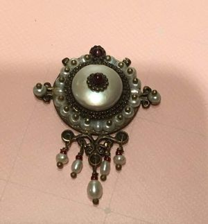 Garnet & Pearl Pendant for Sale in Herndon, VA