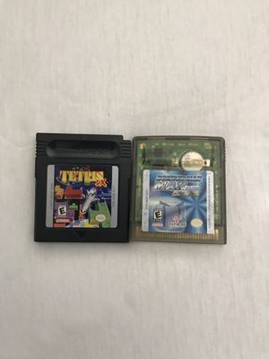 Nintendo Game Boy Games: Tetris Dx Cartridge In Great Condition & Bomberman Max Blue Champion Play Fine Good Condition Both For $20 for Sale in Reedley, CA