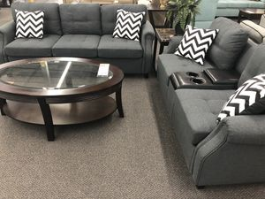 New Couch Sofa Set with Console USB Port. Grey. Free Delivery! for Sale in Los Angeles, CA