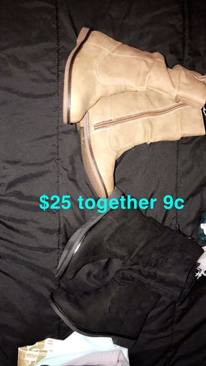 2 brand new 9c toddler girls boots $20 PU EAST NASHVILLE for Sale in Nashville, TN