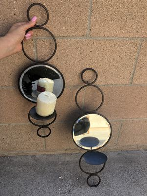 Mirror wall candle holders for Sale in Santa Fe Springs, CA