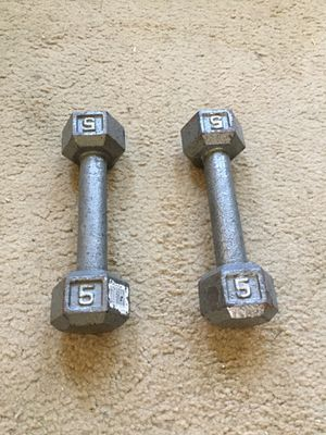 5 pound hex dumbbells for Sale in Philadelphia, PA